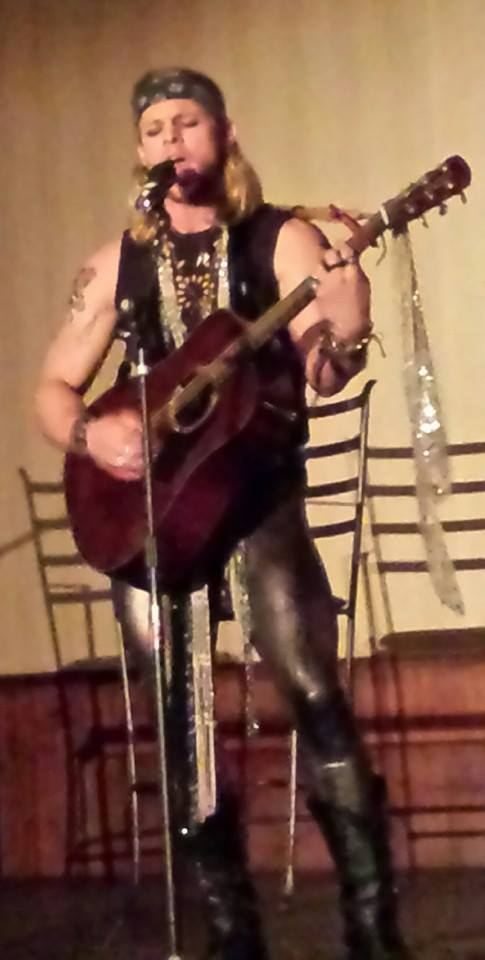 Chase Coleman as Stacee Jaxx, Halloween night.