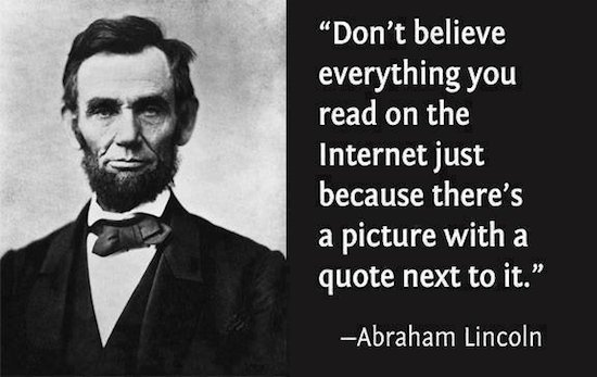 Abraham-Lincoln-Internet-lie